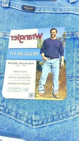 Wrangler Men's Regular Fit Comfort Flex Waist Jean SZ: 42 X