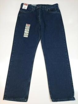 Men's Regular Fit Straight Leg Jeans by Wrangler Dark Denim