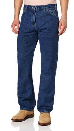 Dickies Men's Regular Straight Fit 6 Pocket Jean, Stone Wash
