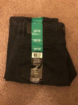 Urban Star Men's Relaxed Fit Straight Leg Jeans Black 38X36
