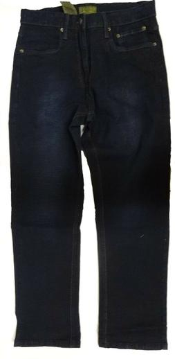 Urban Star Men's Relaxed Fit Straight Leg Jeans Dark Rinse