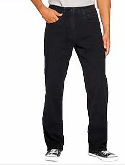 Urban Star Men's Relaxed Fit Straight Leg Jeans Black