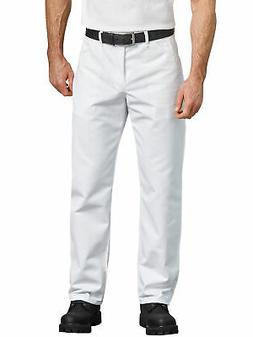 Men's Relaxed Fit Straight Leg Painter Pant White SIZE 36 x