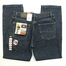 Men's Lee Relaxed Fit Straight Leg Stretch Blue Jeans  Tomas