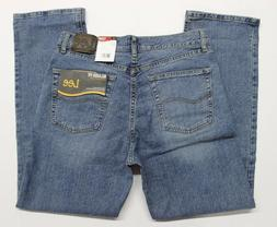 Men's Lee Relaxed Fit Straight Leg Stretch Blue Jeans  Larso