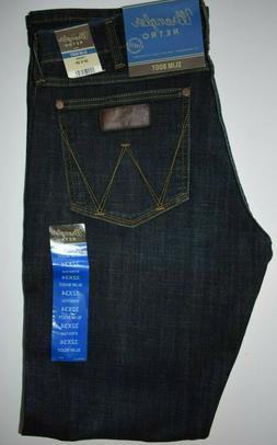 Wrangler Men's Retro Slim Boot Stretch Denim Jeans 77MWZDX W