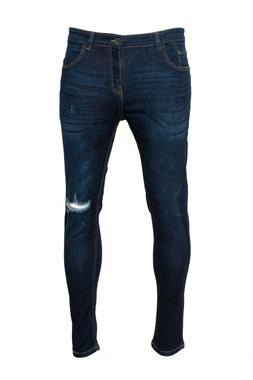 Men's Ripped Skinny Jeans Stretch Frayed Biker Slim Fit Deni