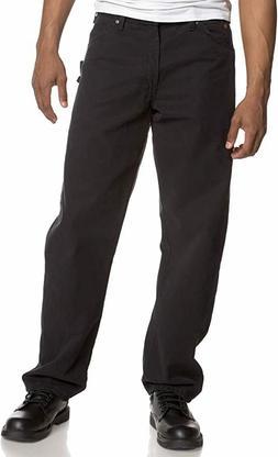 Dickies Men's Sanded Duck Carpenter Jean, Black, 30W x30L