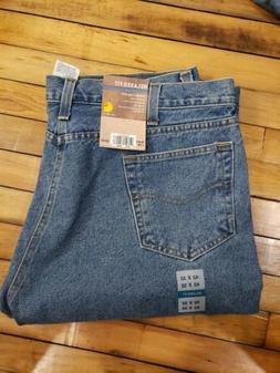 Carhartt Men's Size 42x32 B460 Blue Relaxed Fit Straight Leg