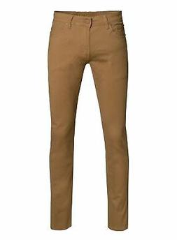 Perruzo Men's Skinny Fit Color Jeans 28x30 Wheat