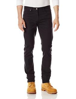 Dickies Men's Slim Skinny 5-Pocket Pant, Rinsed Black, 32W x