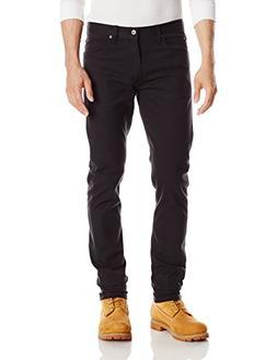 Dickies Men's Slim Skinny 5-Pocket Pant, Rinsed Black, 31W x