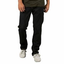 Volcom Men's Solver Modern Fit Jeans Rinse Blue Denim Skate