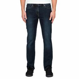 Volcom Men's Solver Modern Fit Jeans Vintage Blue Denim Skat