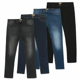 Men's Stone Wash Jeans Casual Vintage Stretch Fit Pants Big