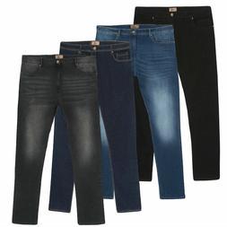Men's StoneWash Jeans Casual Stretch Fit Pants Slacks Trouse