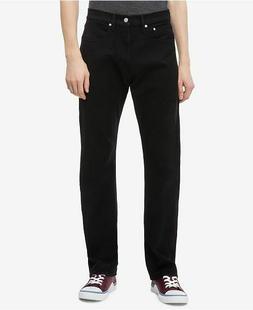 Calvin Klein Men's Straight Fit Jeans Size 32x30 Black