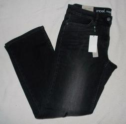 Men's CALVIN KLEIN Straight Leg Distressed Empire Black Jean