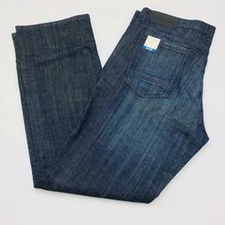 Kenneth Cole Men's Straight Stretch Jeans Indigo Blue Gray W
