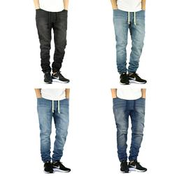 Men's Stretch Denim Jogger Pants Jeans Size Available S M L