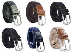 "Weifert Men's Stretch Woven 1.3"" Wide Elastic Braided Belts"