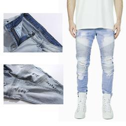 Men's Stylish Camo Pattern Pants Straight Fit Stitching Moto
