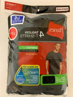Hanes Men's T-Shirt Tagless ComfortSoft Crewneck 4-Pack