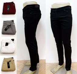 Kayden K. Men's Twill Denim Stretch Skinny Fit Jeans SK201