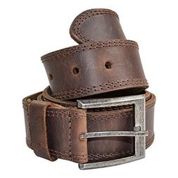 Men's Two Row Stitch Leather Belt Handmade by Hide & Drink :