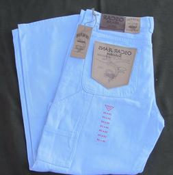 Men's Oscar White Carpenter painters Denim Jeans 30 32 34 36