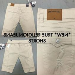 True Religion Men'sJeans Geno Slim Fit Mens Jeans Shorts USA
