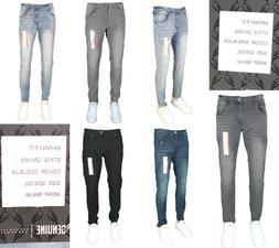 men slim fit jeans super stretch denim