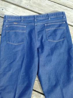 Wrangler Men Stretch Flex Fit Waist Jeans 42 waist Dark Wash