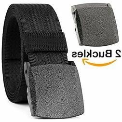 Men Belt Nickel Free Belt Nylon Adjustable Web Belt with Plastic Buckle 168