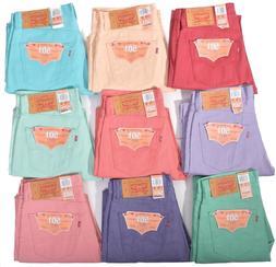 Levis Mens 501 Button Fly Shrink to Fit Denim Jeans Choose C