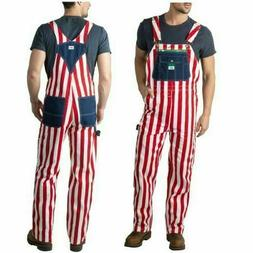 Liberty Mens American Flag Red White & Blue Bib Denim Overal