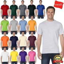 Hanes Mens Beefy-T T-Shirt 100% Cotton 5180 Blank T Shirt Pl