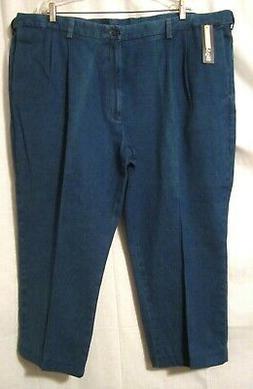 Haggar Mens Big and Tall Denim Trousers Jeans Pants 50 x ALT