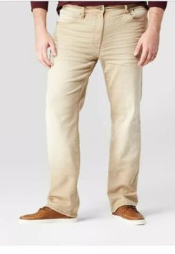 Mens Big And Tall Slim Straight Jeans,khaki Color Goodfellow