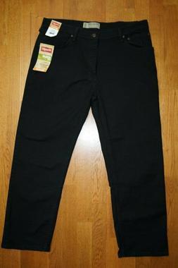 Wrangler Men's Black Jeans 4 Way Flex Regular Fit Size 36