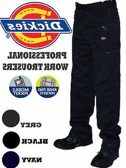 Dickies Mens Cargo Work Trousers. Heavy Duty Work Wear. Blac