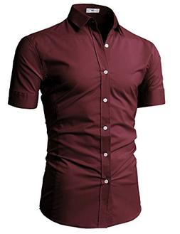 H2H Mens Classy Tailored Look Shirts with Jeans Or Chinos Wi
