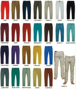 Victorious Mens Colored Twill Skinny Jeans Free Shipping GS0
