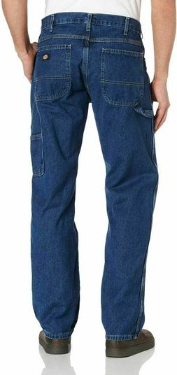 Mens Dickies Straight Leg Carpenter Jeans-Stone 36x32, Stone