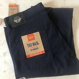 Dockers Mens Jean Cut Pants Blue Straight Fit All Season Mot