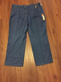 Haggar Mens Jeans 44x30 Pleated Big And Tall New Comfort Wai