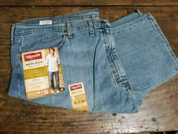 Wrangler Mens Jeans Blue Size 46x30 Relaxed Fit 4-Way Flex F