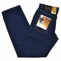 Lee Mens Jeans Dark Stone Regular Fit Straight Leg Men Class