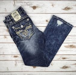 9f6ad3ac By Levi's. USD $32.99. Mens Rock Revival Jeans Low Rise Scion Slim Bootcut  28 29 30. 4