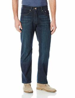 Lee Mens Jeans Regular Fit Comfort Stretch Straight Leg Bowe